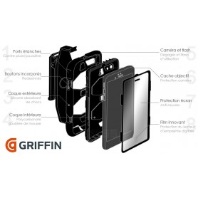 Coque Survivor All-Terrain Military - Griffin - Noir/blanc pour Apple iPad Mini