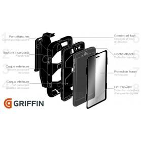 Coque Survivor All-Terrain Military - Griffin - Noir/blanc pour Samsung TAB 4