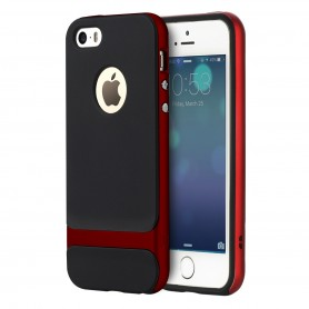 Coque iPhone 5/5S/5SE ROCK contour bumper rouge Royce Series (Cross)
