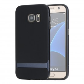 Coque Galaxy S7 ROCK contour bumper bleu Royce series