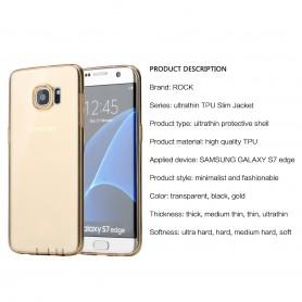 Coque Galaxy S7 Edge ROCK dos transparent or ultrathin TPU