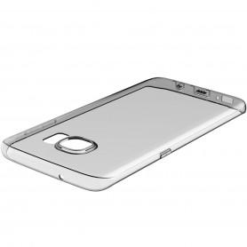 Coque Galaxy S7 Edge ROCK dos transparent noir ultrathin TPU