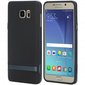 Coque Galaxy Note 5 ROCK contour bumper bleu Royce series