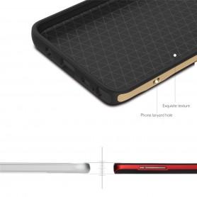 Coque Galaxy Note 5 ROCK contour bumper gris Royce series