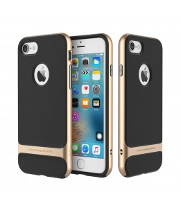 Coque iPhone 7/8 ROCK contour bumper Or Royce with kick stand