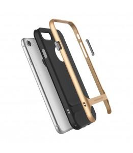 Coque iPhone 7/8 ROCK contour bumper bleu navy Royce with kick stand