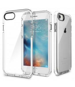 Coque iPhone 7/8 ROCK dos transparent blanc Guard Serie
