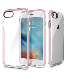 Coque iPhone 7/8 ROCK transparent rose Guard Serie