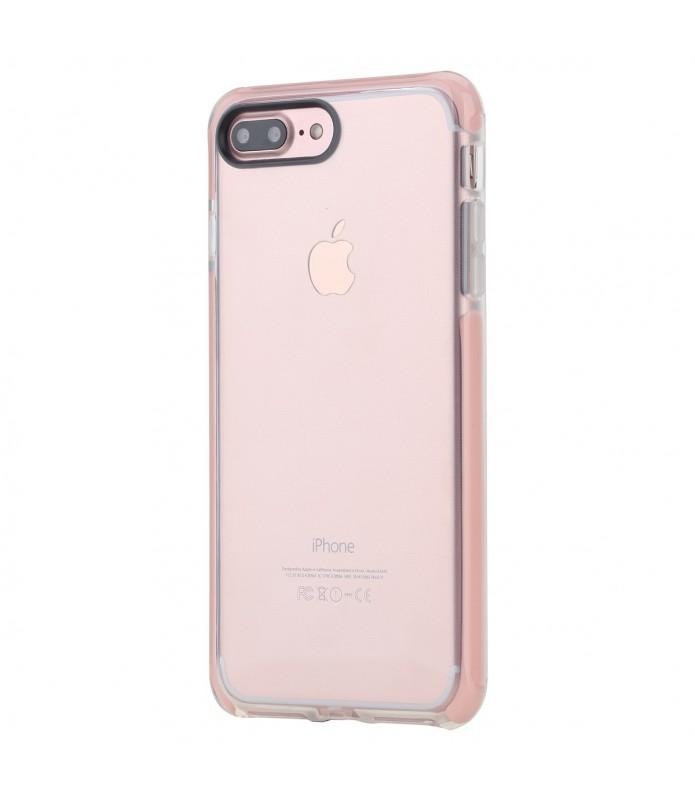 coque iphone 7 plus 8 plus rock transparent rose guard serie
