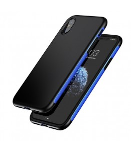 Coque iPhone X Baseus Protection TPU + TPE Dropproof Bleu