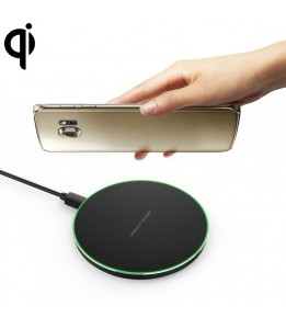Socle de charge  Qi Wireless Charger Aluminium Noir